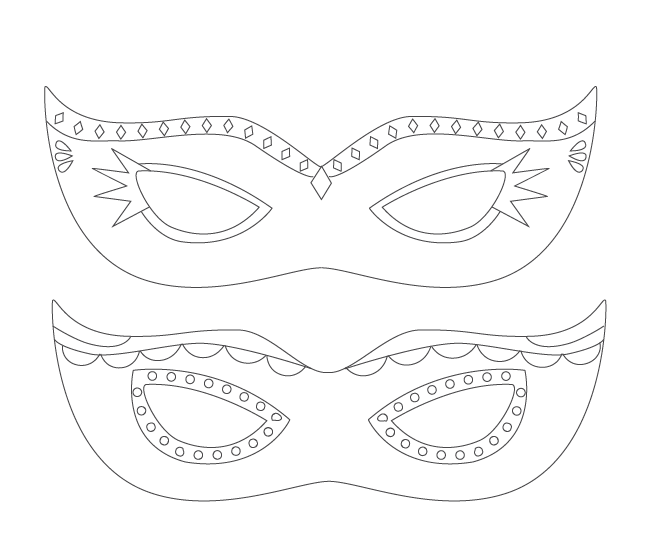 mardi gras mask coloring printable