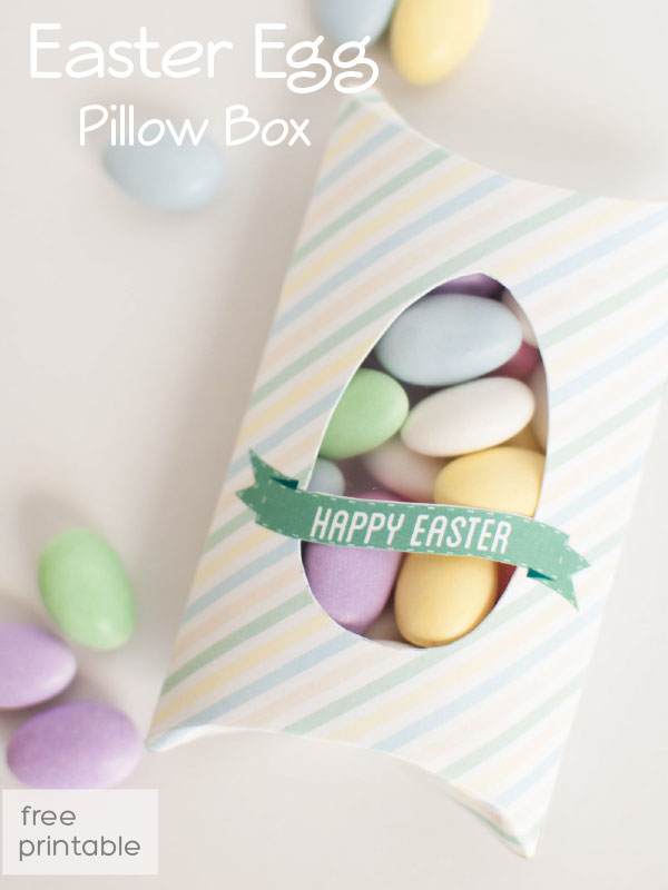 easter treat box, pillow box shape with window