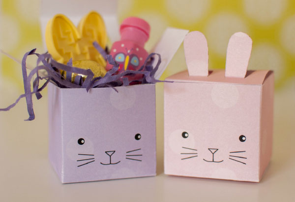 cute printable bunny rabbit favor boxes