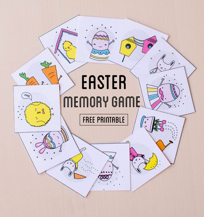 Printable Easter memory matching game