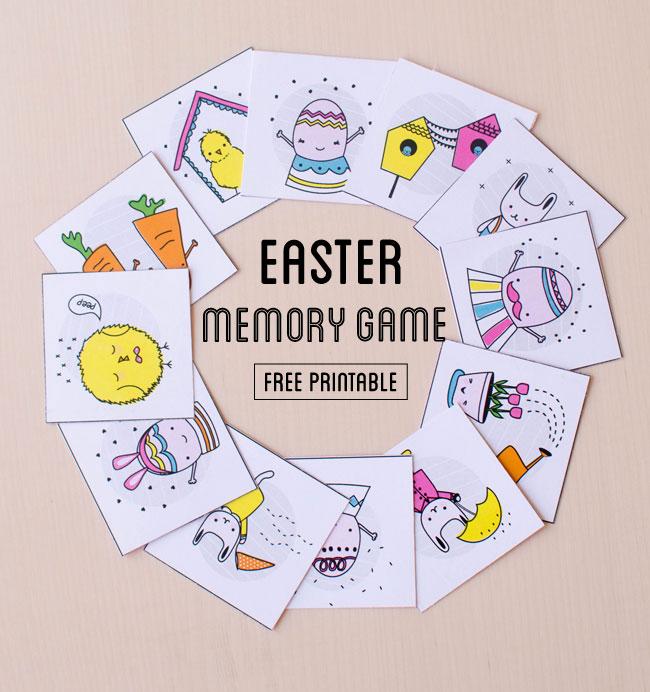 Printable Easter memory matching game