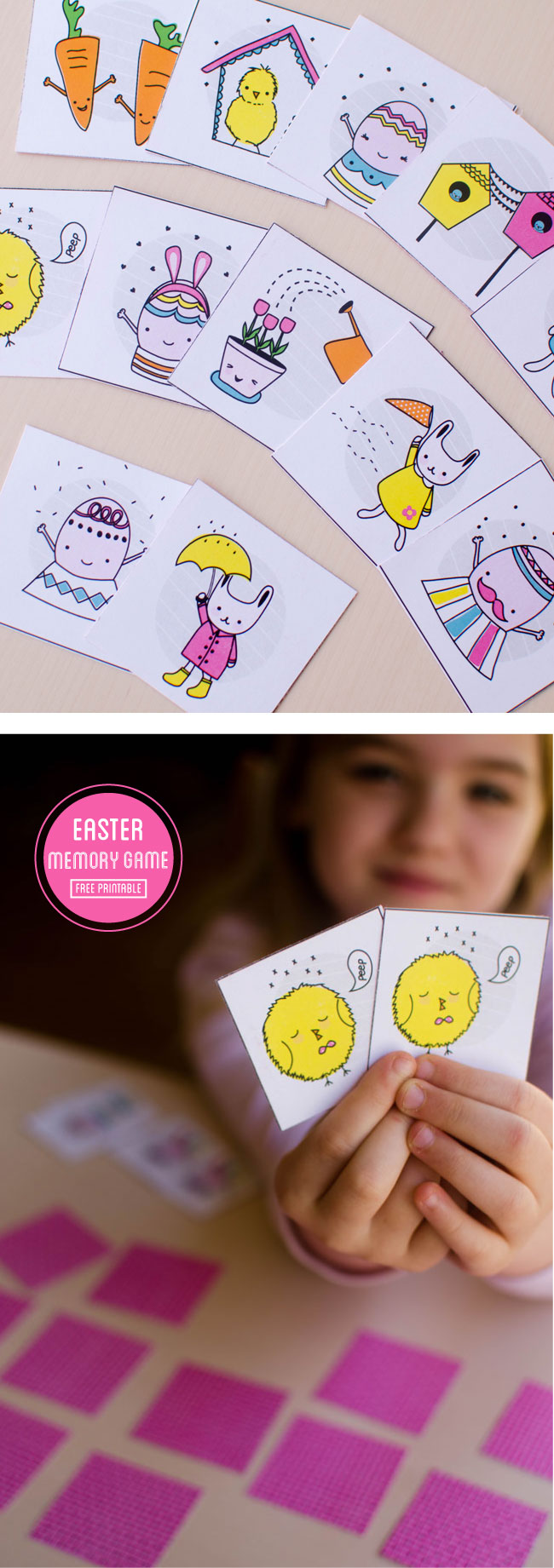 Easter Memory matching game | free printable from www.paperloving.com