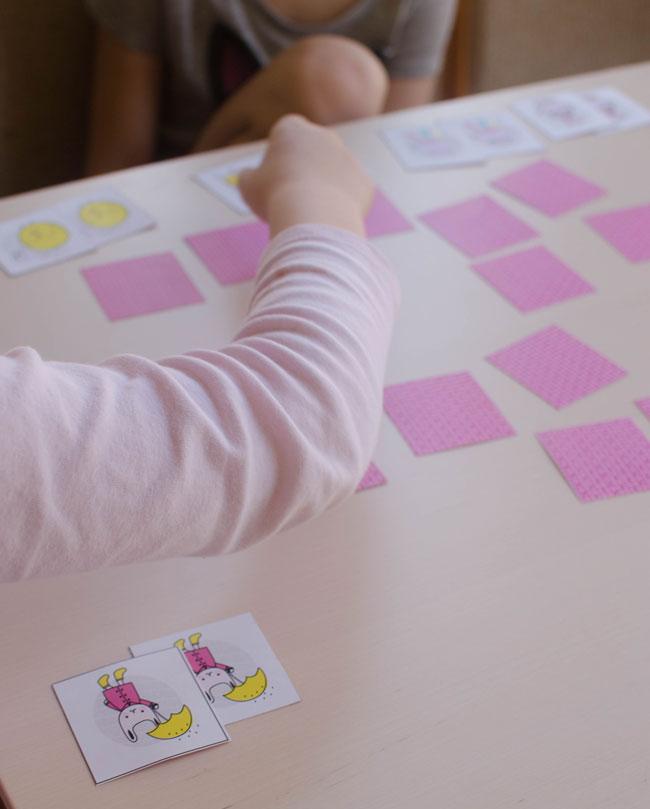 kids playing memory game
