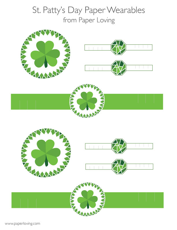 st. patrick's day printable wearables