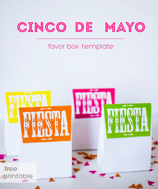favor box for Cinco de Mayo or Mexican Fiesta