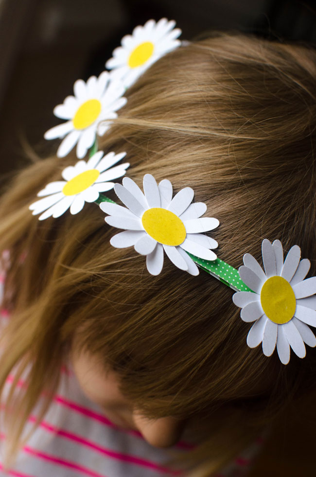 how to make a daisy chain crown